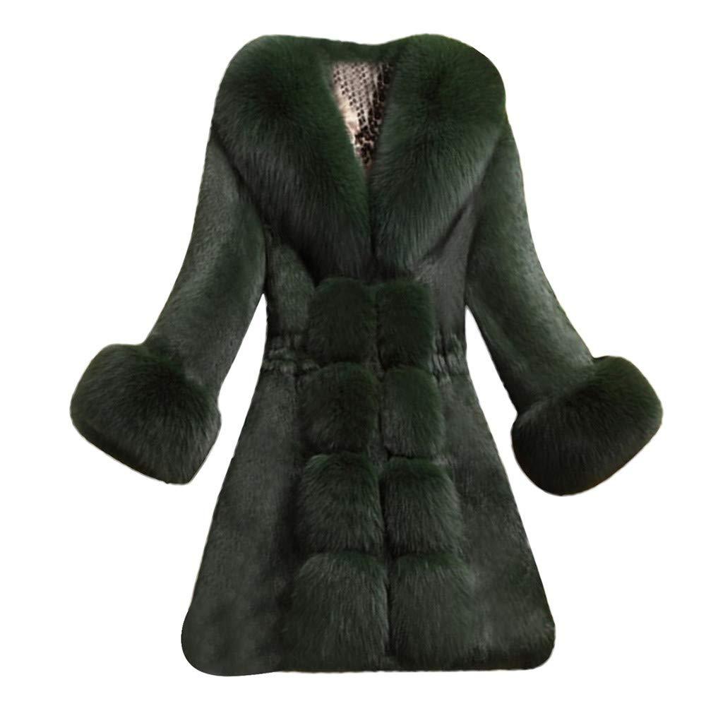 4Clovers Women Short Coat, Womens Winter Warm Thick Outerwear Coat Slim Fake Faux Fur Jacket Clothes at Amazon Womens Coats Shop