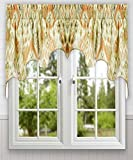 Ellis Curtain Terlina 100-by-30 Inch Lined 2-Piece Duchess Valance, Coral