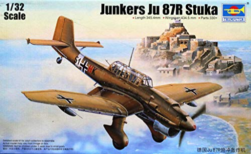 Used, Trumpeter 1:32 Junkers Ju 87R Stuka Plastic Aircraft for sale  Delivered anywhere in USA