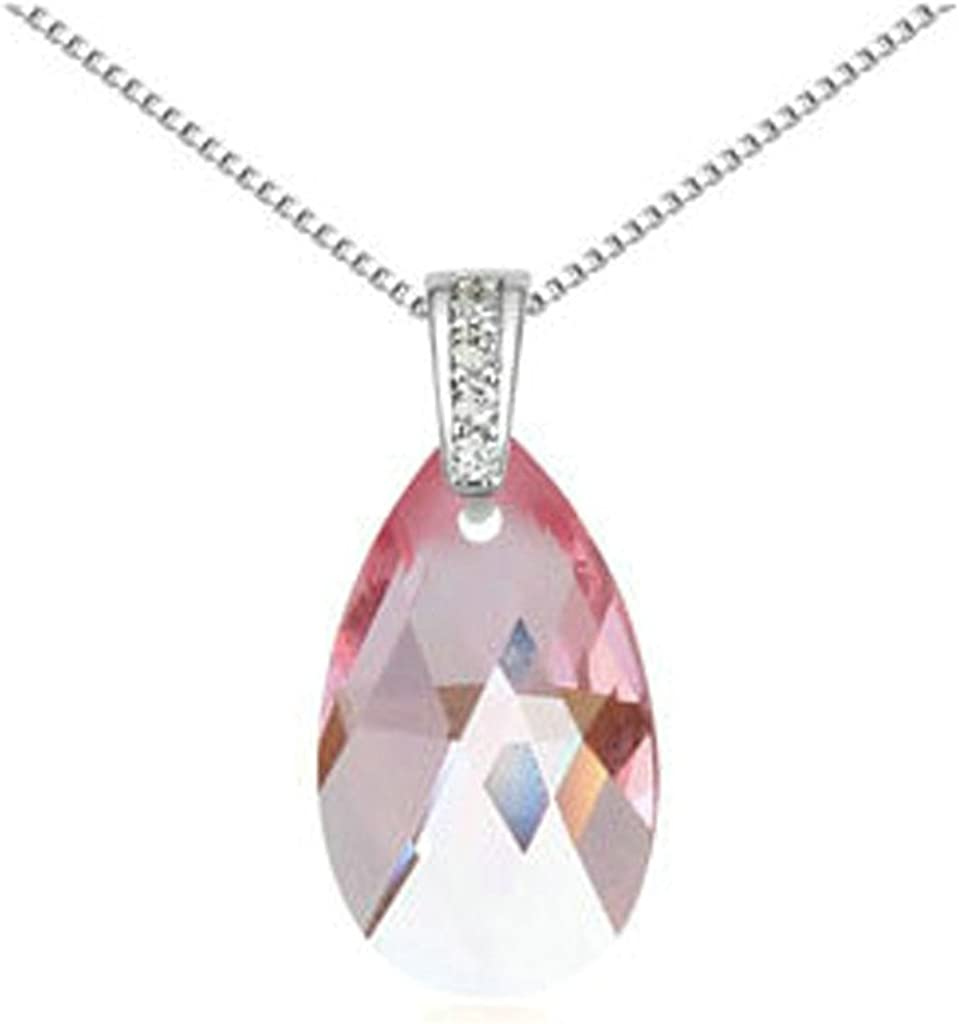Adisaer Gold Plated Pendant Necklaces for Women Cubic Zirconia Teardrop
