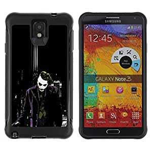 SHIMIN CAO@ Joker Dark City Bat Rugged Hybrid Armor Slim Protection Case Cover Shell For Note 3 Case ,N9000 Leather Case ,Leather for Note 3 ,Case for Note 3 ,Note 3 case