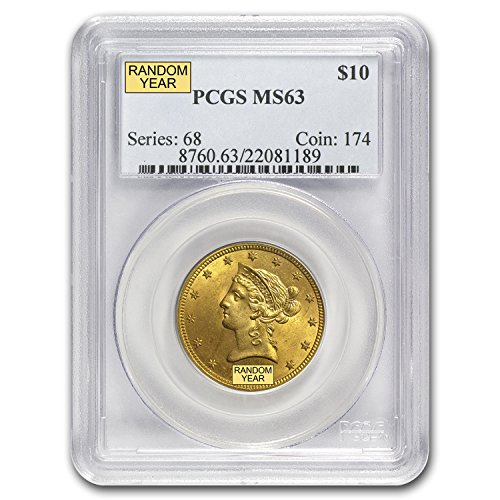 1850 – 1907 $10 Liberty Gold Eagle MS-63 PCGS G$10 MS-63 PCGS