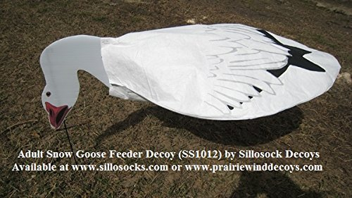 Sillosocks Snow Goose Feeder Decoy (12-Pack), White Paceline Products Inc. SS1012