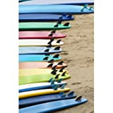 Mainstays Veloured Digital Print Beach Towel Soft (34 X 64, Surf board)