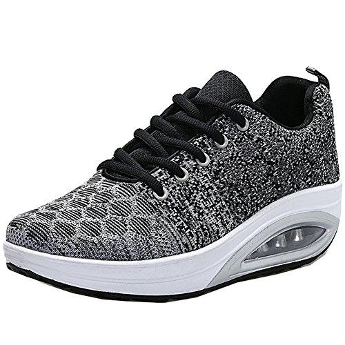 JARLIF Women's Comfortable Platform Walking Shoes Lightweight Casual Tennis Air Fitness Sneakers US5.5-10