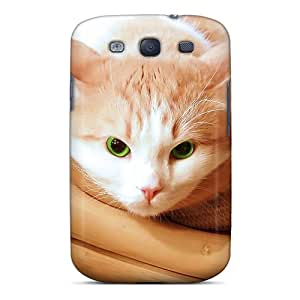 New Style Case Cover JhfZdqB1697qyJEM Cute Cat For Carmenmbonilla Compatible With Galaxy S3 Protection Case