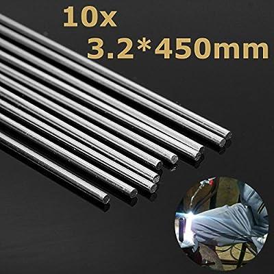 ExcLent 10 Unids 450Mm Aleación De Aluminio Plata Barras De Soldadura Herramientas Para Grietas Polaco Y Pintura