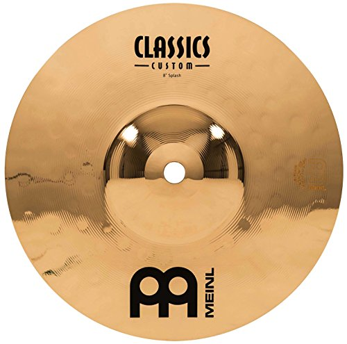 "Meinl 8"" Splash Cymbal - Classics Custom Brilliant - Made In Germany, 2-YEAR WARRANTY (CC8S-B)"