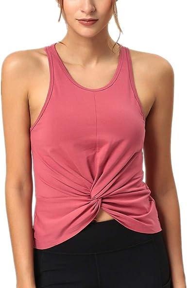 Chaleco Deportivo Mujer Ocio Correr Fitness Camiseta sin Mangas Mujer Pecho algodón Yoga Chaleco: Amazon.es: Ropa y accesorios