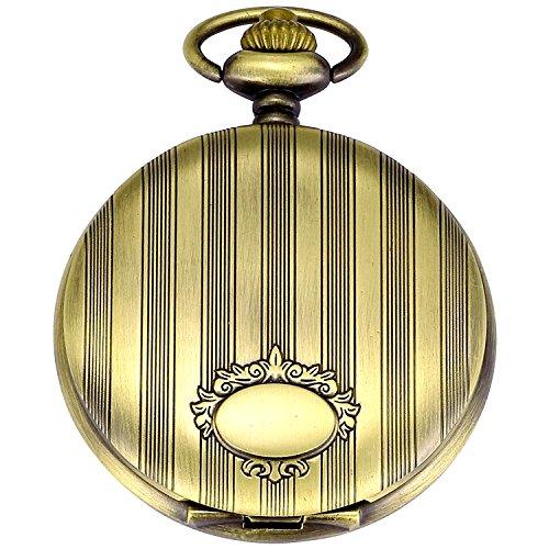 - New Brand Mall Vintage Silver Stainless Steel Quartz Pocket Watch Chain