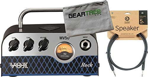 Vox MV50 50w Rock Guitar Amp Head w/ Cleaning Cloth and Speaker Cable by V O X