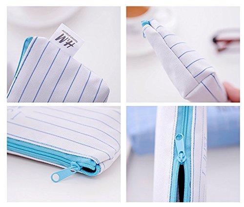 Flamingo Canvas Kosmetikstift Bleistift Schreibwaren Tasche Tasche, 4er Set 5