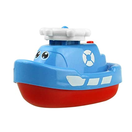 Amazon com: Electric Boat Model Jet Boat Water Spray Navigation Ship