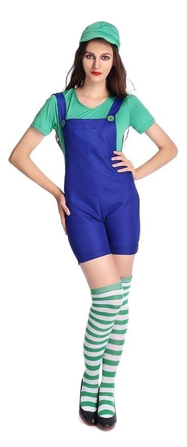 Disfraz de Luigi verde y azul, para Halloween, despedida de ...