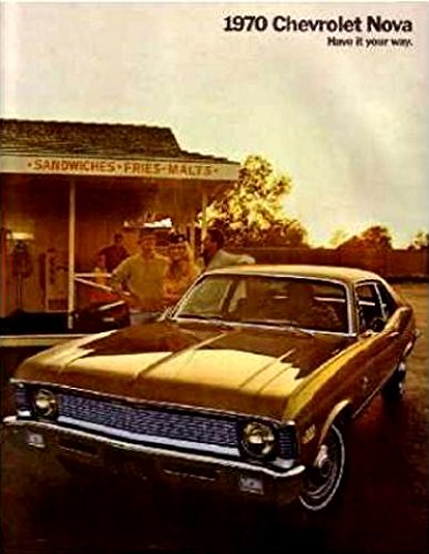 Chevy Nova Sales - 1970 CHEVY NOVA DEALERSHIP COLOR SALES BROCHURE - ADVERTISMENT FOR Custom, SS, Super Sport, Coupe. - CHEVEROLET 70
