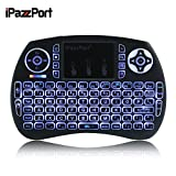 [Updated Version]iPazzPort-2.4GHz Mini Wireless Keyboard with High Sensitive Touchpad,Remote Control,Backlight Function for PC, Xbox 360, PS4, Android TV Box, smart TV, etc.