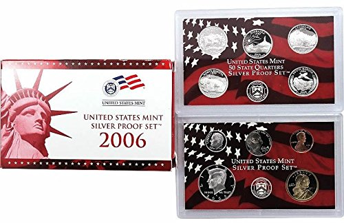 2006 S US Proof Set 10-Coin Silver Proof Set Mint State State Quarters Proof Set Proof US Mint