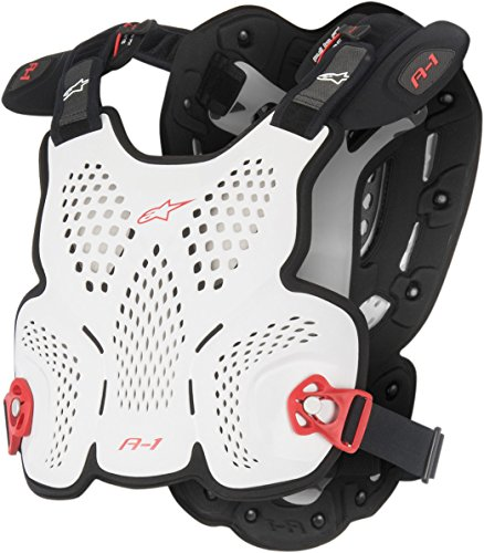 - Alpinestars Men's A-1 Roost Guard (White/Black/Red, X-Large/XX-Large)