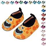 Lauwodun Baby Boys Girls Water Shoes Barefoot Aqua Sock Shoes for Beach Pool Surfing Yoga Swimming Walking-color12-1718