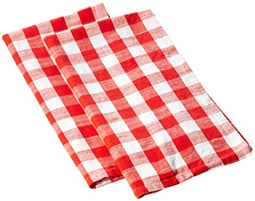 (SARO LIFESTYLE Classic Gingham Check Design Cotton Kitchen Towel - Set of 4 20