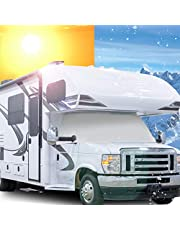Mofeez RV Class C Ford 1997-2018 Windshield Cover RV Motorhome with Mirror Cutouts