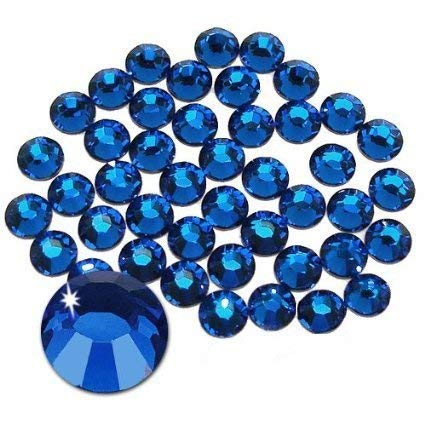 Jollin Hot Fix Flatback Rhinestones Glass Diamantes Gems 6.4mm(30ss 288pcs,Sapphire) - 30ss Sapphire