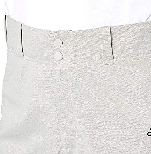 adidas Men's Triple Stripe Traditional Lightweight Performance Tapered Baseball Pants for All Season (Grey Baseball/Medium)