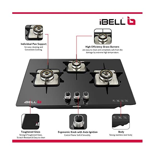 iBELL-AERO3BGH-Glass-TopGas-Hob-with-3-Burner-and-Auto-Ignition-Black