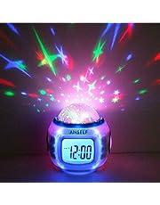 Anself H4962 - Reloj despertador para niños con termómetro, alarma y calendario