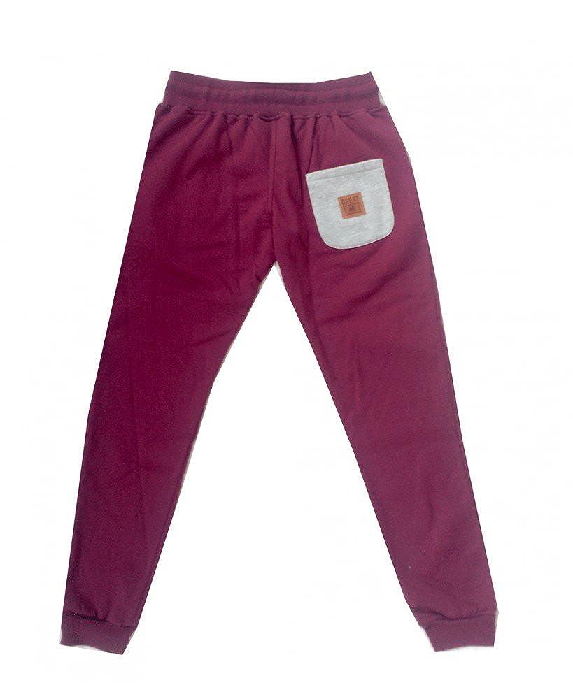 GREAT TIMES CLOTHING Pantalon Chandal Basic Burdeos - Color ...