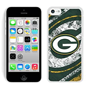 Unique And Antiskid Designed Cover Case For iPhone 5C With Green Bay Packers White Phone Case