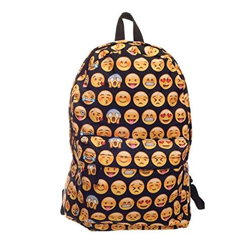 93fd5f609ddec8 CAMTOA 3D QQ Emoji Zaino /Scuola Zaino/ Bambini Zaino/ School Bag/Backpack