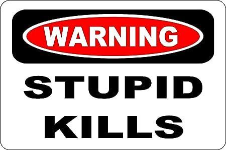 DIAN CLUB Warning Stupid Kills Cartel de Chapa de Pared ...