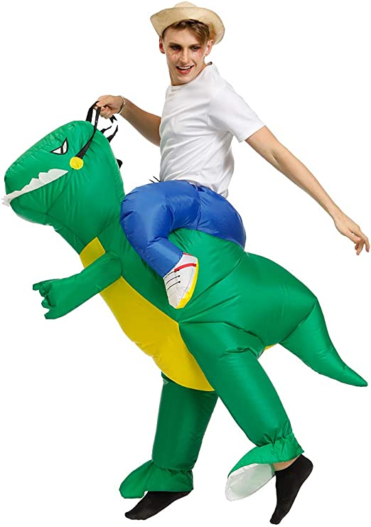 Kids//Adult Dinosaur Costumes Ride on Blow Up Inflatable TRex Suit Christmas Xmas