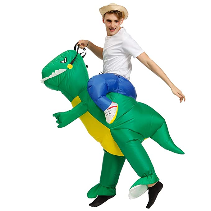 Amazon.com: KOOYNN - Disfraz de dinosaurio T-REX inflable ...