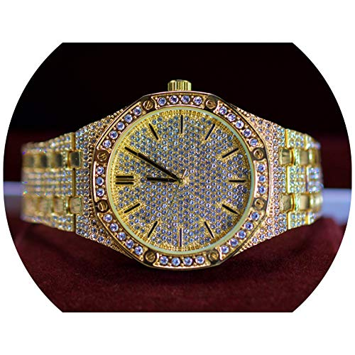 Full ICED Out Luxury Stylsh Super Bling Iced Out Big Dial Octagon Shaped Bling Dial Watch
