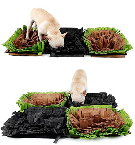 Pet Snuffle Mat Feeding Mat for Dogs Encourages Natural Foraging Skills Nosework Blanket Dog Training Mats Durable and Machine Washable Dogs Puzzle Toys by DogLemi (Image #2)