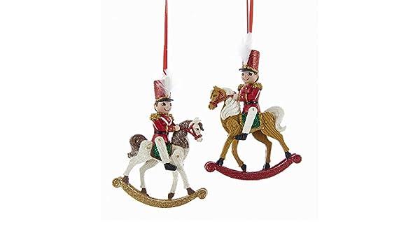 Kurt Adler polo norte juguete diseño de soldado en caballo ...
