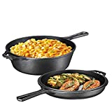 Pre-Seasoned 2-In-1 Cast Iron Multi-Cooker