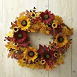Current-Sunflower-Wreath-16-diameter-Faux-Floral-Fall-Wreath-Decorative-Wreath