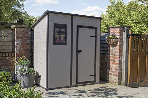 Keter-Manor-Pent-Outdoor-Plastic-Garden-Storage-Shed-BeigeBrown-6-x-4-ft