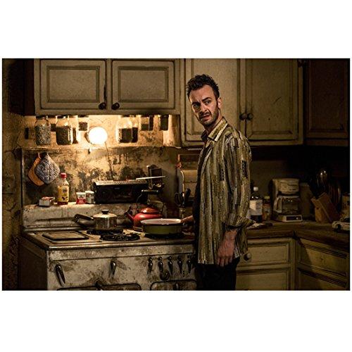 (Joseph Gilgun 8 Inch x 10 Inch photograph Preacher (TV Series 2016 - ) Standing at Stove in Kitchen kn)