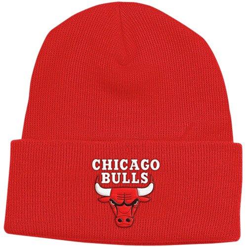 Chicago Bulls Red Basic Logo Cuffed Knit Hat