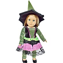 WITCH COSTUME FOR AMERICAN GIRL DOLLS AND MAPLELEA