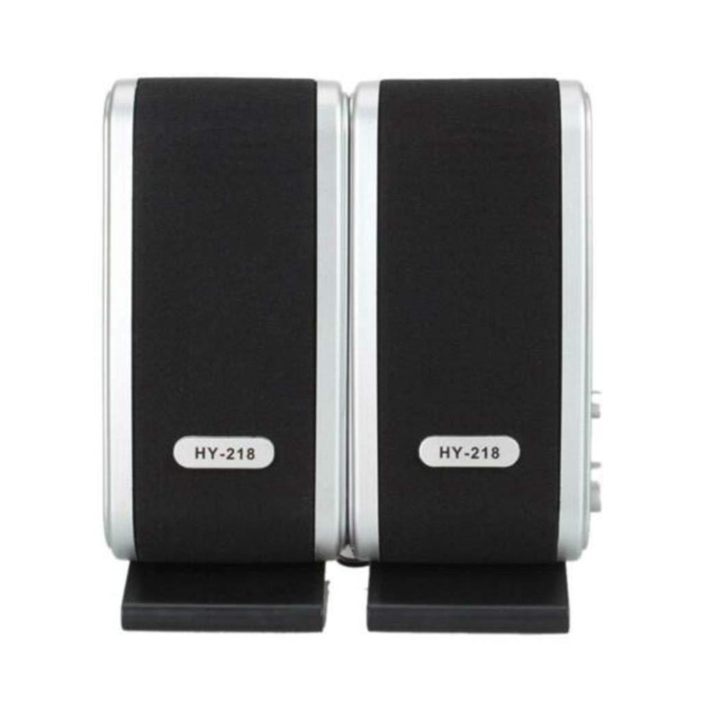 Tebatu USB 2.0 HY-218 Laptop Computer Speakers for Desktop PC Notebook Headphone Microphone Accessories