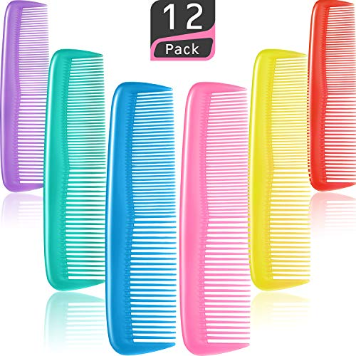 Colorful Hair Combs Set, Hair Combs Set, Hair Combs for Women and Men, Colorful Coarse, Fine Dressing Comb (12 Pieces) (Best Comb For Women's Hair)