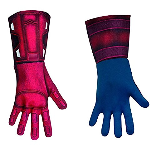 Disguise Costumes Marvel's Avengers Movie Captain America Deluxe Gloves Adult, Red/Blue, One Size