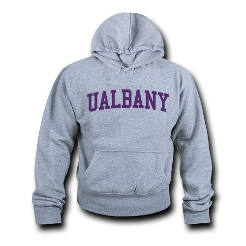 W Republic Game Day Hoodie UAlbany, Heather Grey - Medium