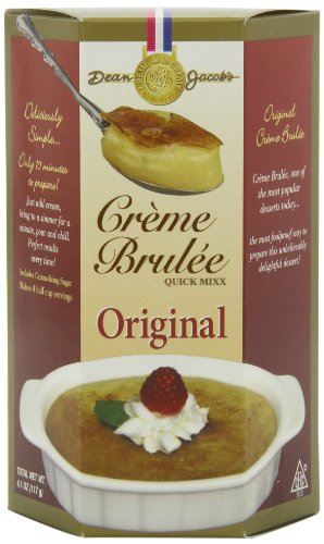 Dean Jacobs Creme Brulee Quick Mix, 4.1-Ounce (Pack of 12) Microwave Creme Brulee