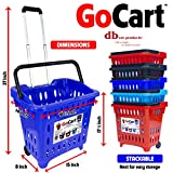 dbest products GoCart, Blue Grocery Cart Shopping